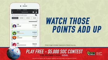 DraftKings Single Game Showdown TV Spot, 'Fantasy Soccer Contest: $5,000' - Thumbnail 8
