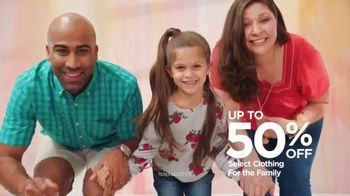 JCPenney TV Spot, 'Family Deal: 50 Percent Off Clothing'