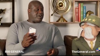 The General App TV Spot, 'Watching TV' Featuring Shaquille O'Neal - Thumbnail 4