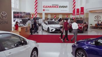 Toyota National Clearance Event TV Spot, 'Remaining 2018s' [T2]