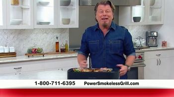 Power Smokeless Grill TV Spot, 'Smoke Extracting Technology' Featuring Eric Theiss