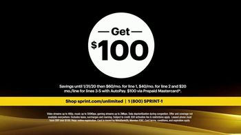 Sprint TV Spot, 'Rooftop: Five Lines' - Thumbnail 10