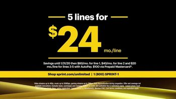Sprint TV Spot, 'Rooftop: Five Lines' - Thumbnail 9