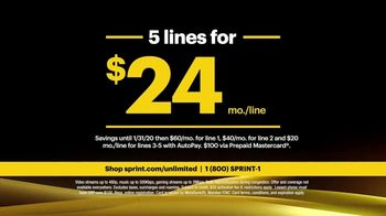 Sprint Unlimited Basic TV Spot, 'Rooftop: Five Lines' - Thumbnail 5