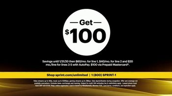 Sprint Unlimited Basic TV Spot, 'Rooftop: Five Lines' - Thumbnail 6