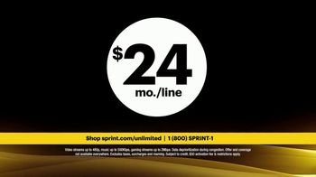 Sprint Unlimited Basic TV Spot, 'Rooftop: Five Lines for $120' - Thumbnail 10