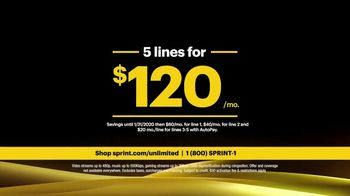 Sprint Unlimited Basic TV Spot, 'Rooftop: Five Lines for $120' - Thumbnail 9