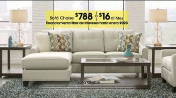 Rooms to Go TV Spot, 'Día del trabajo: sofá chaise' [Spanish] - Thumbnail 6