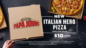 Papa John's Italian Hero Pizza TV Spot, 'Sandwich on a Pizza' - Thumbnail 10