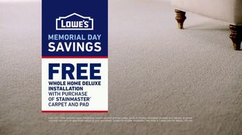 Lowe's TV Spot, 'The Moment: Old Carpet: Memorial Day' - Thumbnail 8