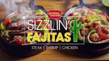 Golden Corral Sizzlin' Fajitas TV Spot, 'Steak, Shrimp, Chicken or Veggie' - 4880 commercial airings