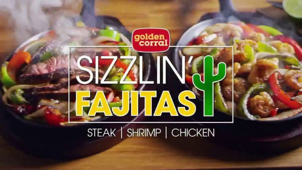 All The Pasta You Can Eat With Olive Garden S Never Ending: Golden Corral Sizzlin' Fajitas TV Commercial, 'Steak