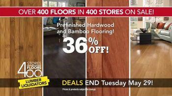 Lumber Liquidators 400 Stores, 400 Floors Sale TV Spot, 'Maple and Bamboo' - Thumbnail 4