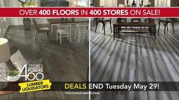 Lumber Liquidators 400 Stores, 400 Floors Sale TV Spot, 'Maple and Bamboo' - Thumbnail 5