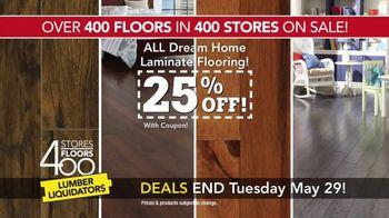 Lumber Liquidators 400 Stores, 400 Floors Sale TV Spot, 'Maple and Bamboo' - Thumbnail 7