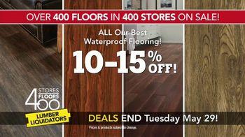Lumber Liquidators 400 Stores, 400 Floors Sale TV Spot, 'Maple and Bamboo' - Thumbnail 8
