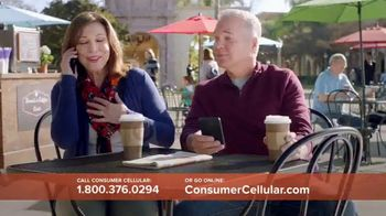 Consumer Cellular TV Spot, 'Coffee Date: $20 Sweet Savings' - Thumbnail 4