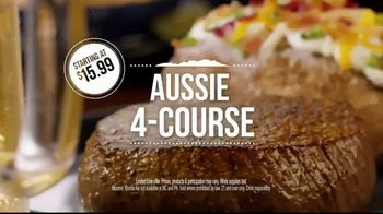 Outback Steakhouse Aussie 4-Course Meal TV Spot, 'The Middle Seat: Lunch' - Thumbnail 6