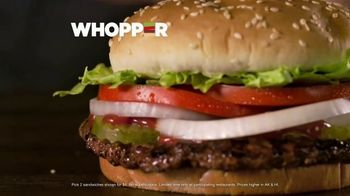 Burger King 2 for $6 Mix or Match TV Spot, 'Flame Grilled' - Thumbnail 7