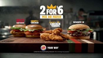 Burger King 2 for $6 Mix or Match TV Spot, 'Crispy Chicken' - Thumbnail 10
