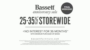 Bassett Anniversary Sale TV Spot, 'Simply Made: Last Chance' - Thumbnail 10