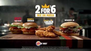 Burger King 2 For $6 Mix or Match TV Spot, 'Pollo crujiente' [Spanish] - Thumbnail 7