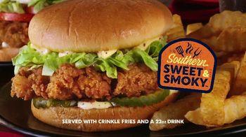 Zaxby's Southern Sweet & Smoky Chicken Sandwich TV Spot, 'Handmade'