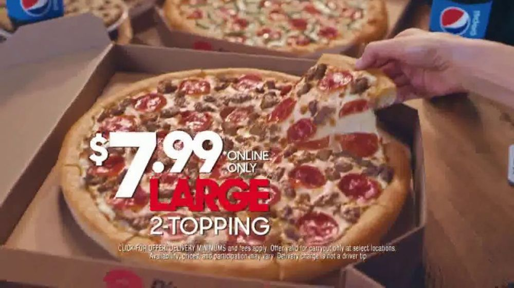 Pizza Hut 7 99 Large 2 Topping Pizza Tv Commercial Coming For The Deal Ispot Tv