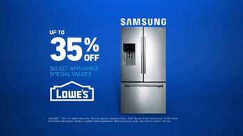 Lowe's TV Spot, 'Samsung Refrigerator' - Thumbnail 9
