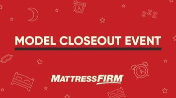 Mattress Firm Model Closeout Event TV Spot, 'Save on Overstock' - Thumbnail 1