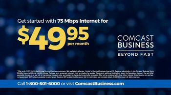 Comcast Business 75 Mbps Internet TV Spot, 'When the Unexpected Happens' - Thumbnail 10