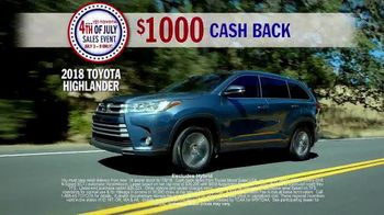 Toyota 4th of July Sales Event TV Spot, 'This Is Big' [T2] - Thumbnail 3