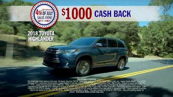 Toyota 4th of July Sales Event TV Spot, 'This Is Big' [T2] - Thumbnail 4