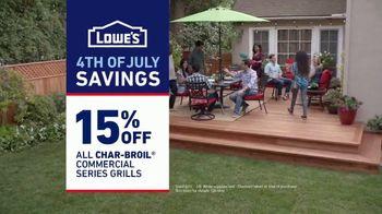 Lowe's 4th of July Savings TV Spot, 'Good Back Yard: Grills' - Thumbnail 10
