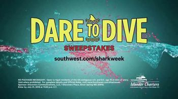 Southwest Airlines Dare to Dive Sweepstakes TV Spot, 'Shark Week' - Thumbnail 4