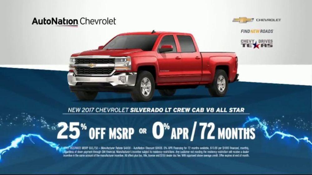 AutoNation 72 Hour Flash Sale TV Commercial, '2017 Chevrolet: Battery  Warranty' - Video