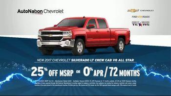 AutoNation 72 Hour Flash Sale TV Spot, '2017 Chevrolet: Battery Warranty'