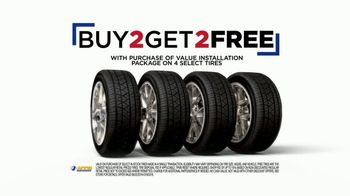 NTB Extended Super Sale TV Spot, 'Get Two Tires Free'