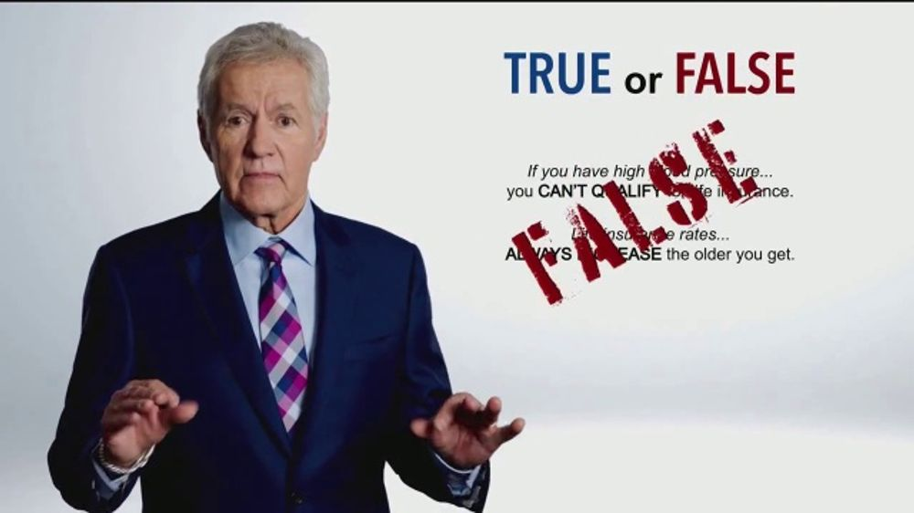 Colonial Penn TV Commercial, 'True or False' Featuring Alex Trebek