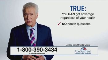Colonial Penn TV Spot, 'True or False' Featuring Alex Trebek - Thumbnail 5