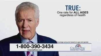 Colonial Penn TV Spot, 'True or False' Featuring Alex Trebek - Thumbnail 6