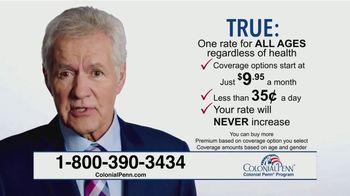 Colonial Penn TV Spot, 'True or False' Featuring Alex Trebek - Thumbnail 7