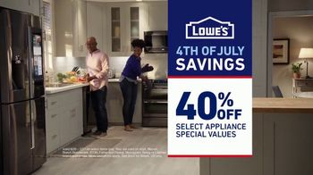 Lowe's 4th of July Savings TV Spot, 'The Moment: Appliances' - Thumbnail 9
