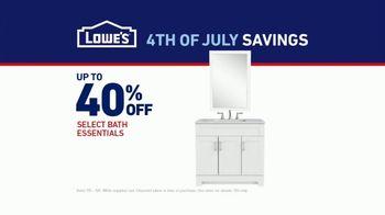 Lowe's 4th of July Savings TV Spot, 'Half Bath, Full Attention' - Thumbnail 7