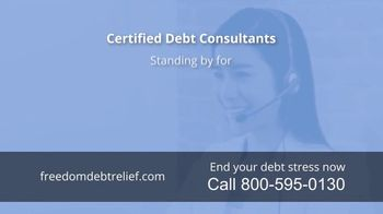 Freedom Debt Relief TV Spot, 'Debt Free in Months' - Thumbnail 6