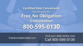 Freedom Debt Relief TV Spot, 'Debt Free in Months' - Thumbnail 7