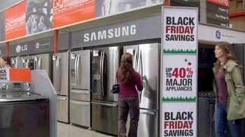 The Home Depot Black Friday Savings TV Spot, 'Major Appliances and Laundry Pair' - Thumbnail 1