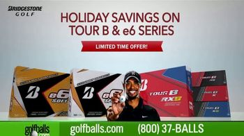 Golfballs.com TV Spot, 'Holiday Savings: Tour B Series and Bridgestone e6' - Thumbnail 8