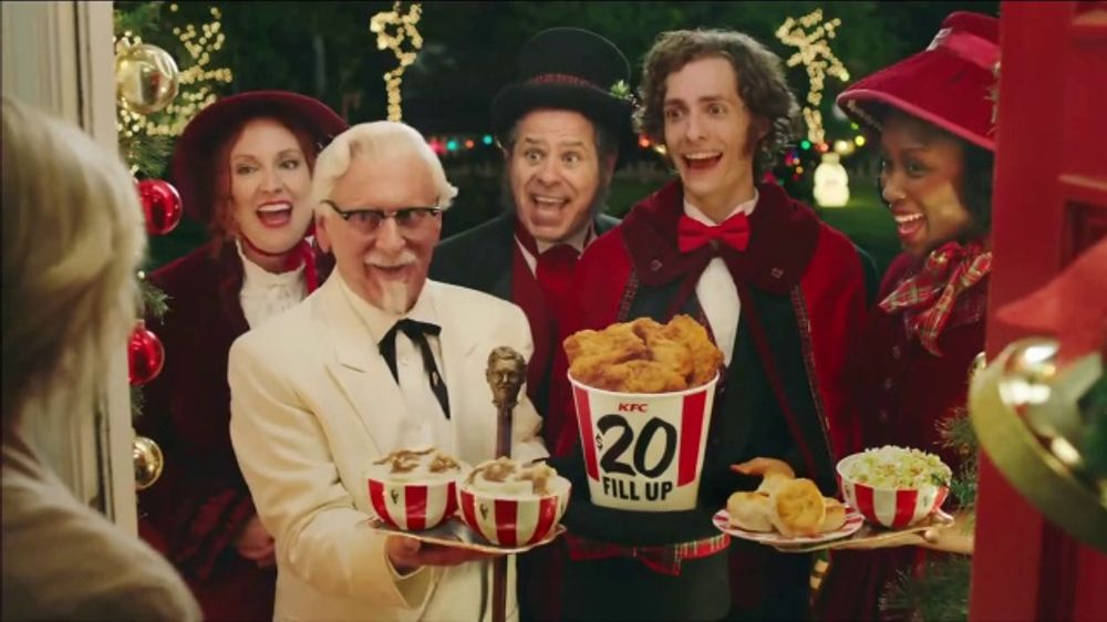 KFC $20 Fill Up TV Commercial, \'2018 Holidays: Carolers\' - iSpot.tv