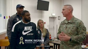 NFL TV Spot, 'Salute to Service: 2018 USO Tour' Featuring Mark Ingram - Thumbnail 4